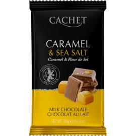 Cachet шоколад молочный с карамелью и морской солью 32% (300 гр)