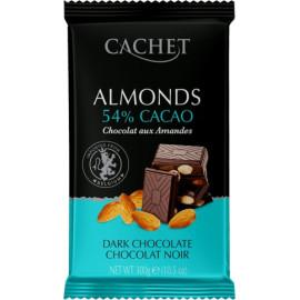 Cachet шоколад черный с миндалем 53% (300 гр)
