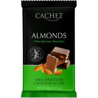 Cachet шоколад молочный с миндалем 32% (300 гр)