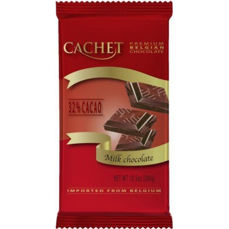 Cachet шоколад молочный 32% (300 гр)
