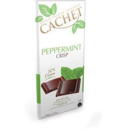Cachet шоколад черный криспы-мята 57% (100 гр)