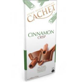 Cachet шоколад молочный криспы-корица 31% (100 гр)