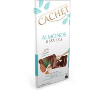 Cachet шоколад черный миндаль-морская соль 57% (100 гр)