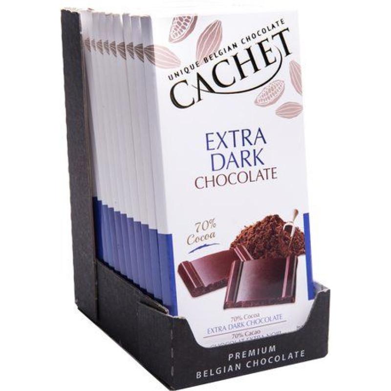 Cachet шоколад экстра черный 70% (100 гр)