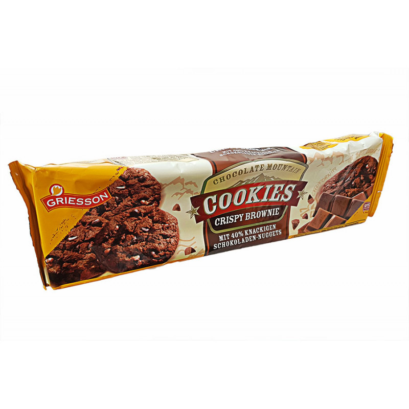 Печенье Griesson Cookies crispy brownie 150гр
