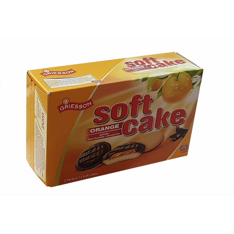 Печенье Griesson Soft cake orange 300гр