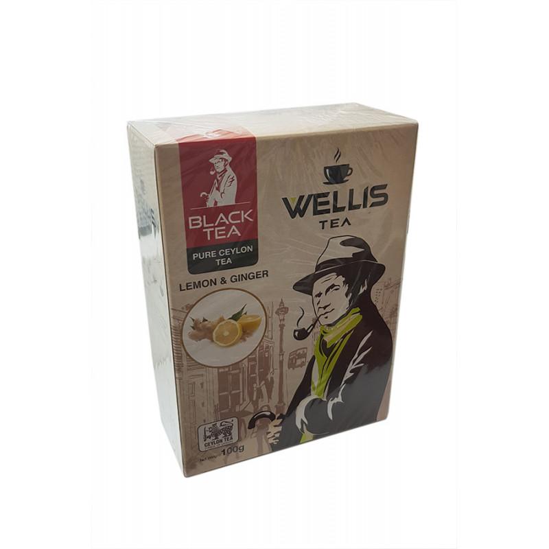 Чай черный Wellis lemon&ginger 100gr