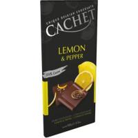 Cachet шоколад чорний лимон-перець 57% (100 гр)