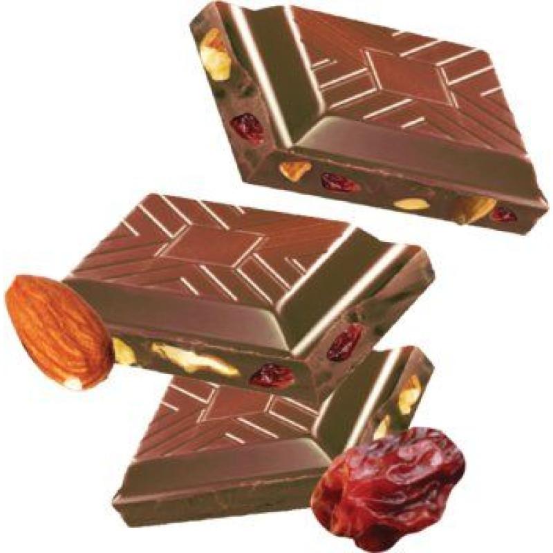 Cachet шоколад молочний з мигдалем і родзинками 32% (300 гр)