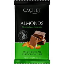 Cachet шоколад молочний з мигдалем 32% (300 гр)