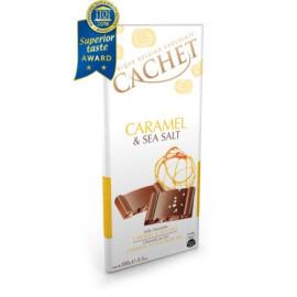Cachet шоколад молочний карамель-морська сіль 31% (100 гр)