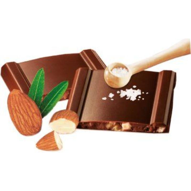 Cachet шоколад чорний мигдаль-морська сіль 57% (100 гр)